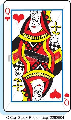 Clipart queen of hearts picture freeuse stock Queen hearts Stock Illustrations. 2,582 Queen hearts clip art ... picture freeuse stock