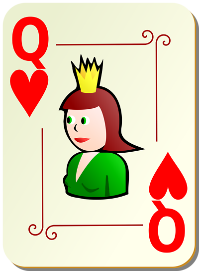 Clipart queen of hearts jpg royalty free library Queen of hearts card clipart - ClipartFest jpg royalty free library