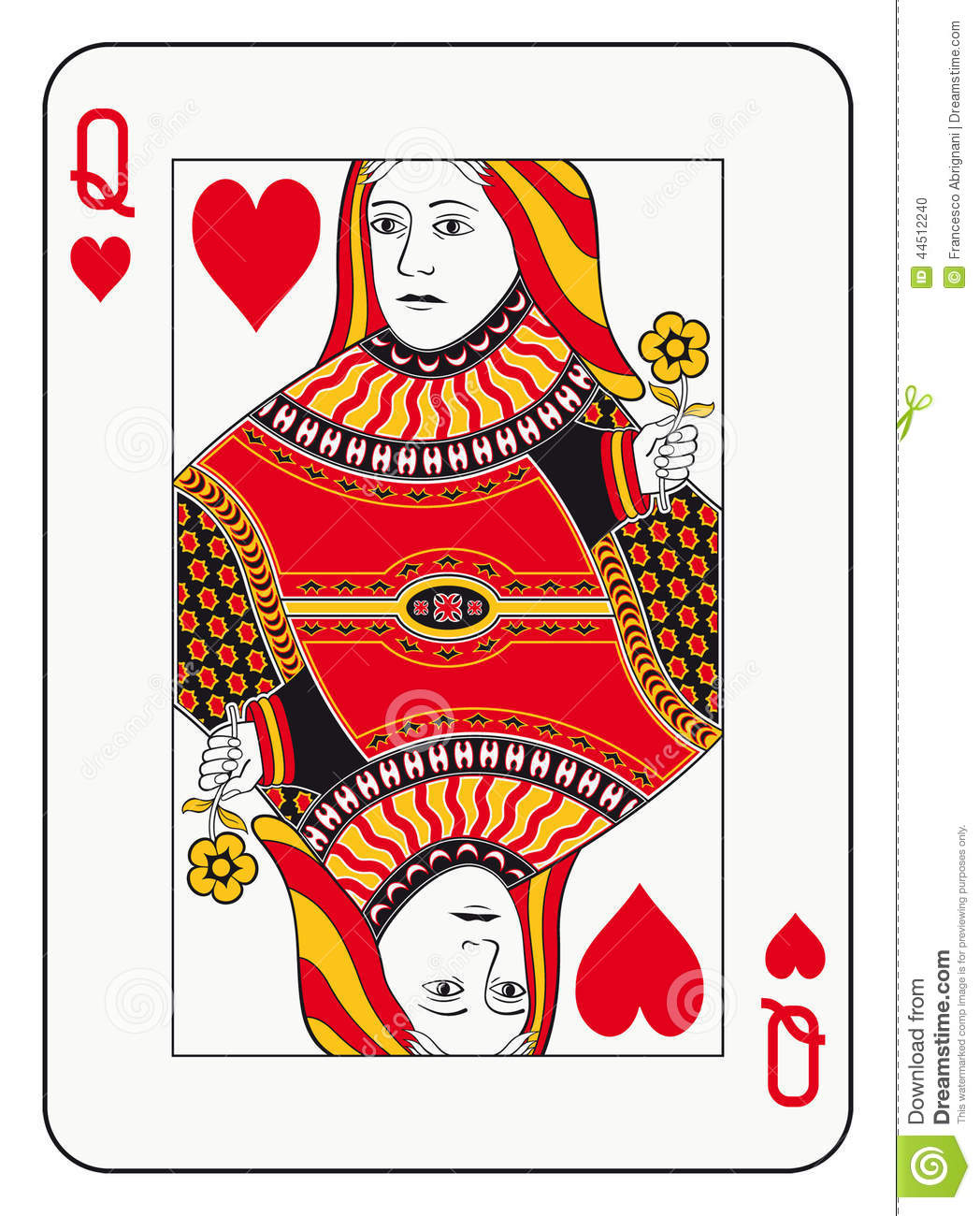 Clipart queen of hearts free Queen of hearts playing card clipart - ClipartFest free