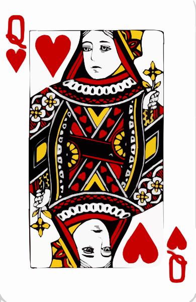 Clipart queen of hearts vector transparent Queen Of Hearts Clip Art at Clker.com - vector clip art online ... vector transparent