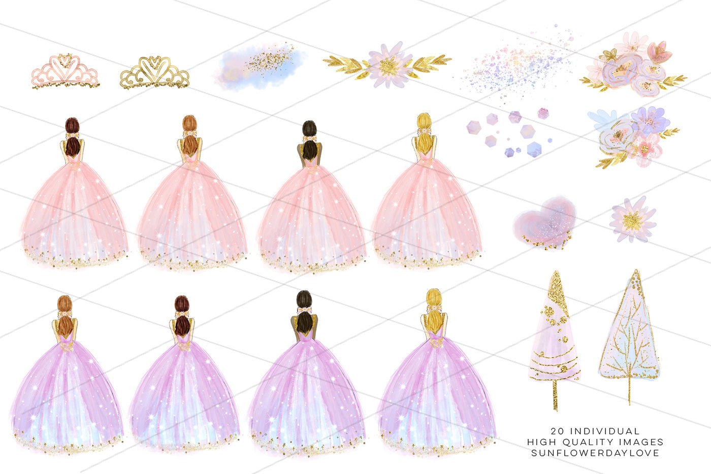 Clipart quinceanera clip download winter princess clip art, fashion clipart, Quinceañera Clipart By ... clip download