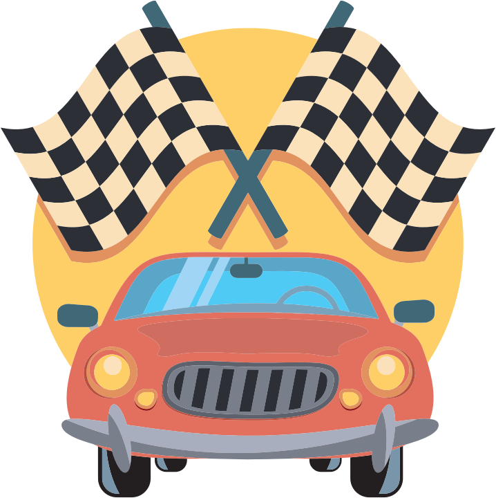 Race car clipart transparent clip royalty free Clipart - Car And Racing Flags Icon clip royalty free