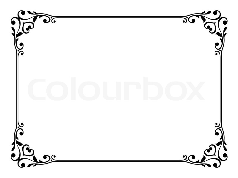 Clipart rahmen black and white stock Clipart rahmen » Clipart Station black and white stock