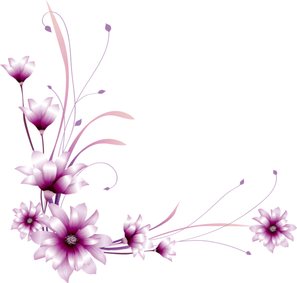 Cliparts zum geburtstag kostenlos png black and white Blumen | Free Images at Clker.com - vector clip art online ... png black and white