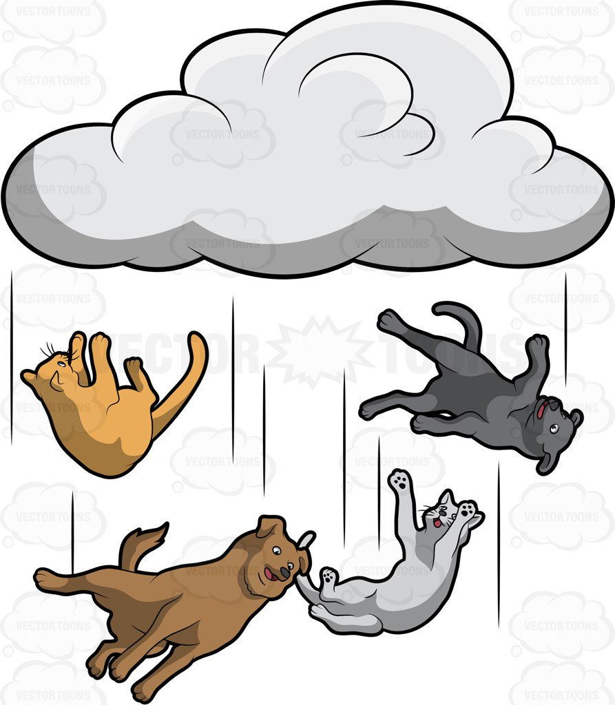 Clipart raining cats and dogs