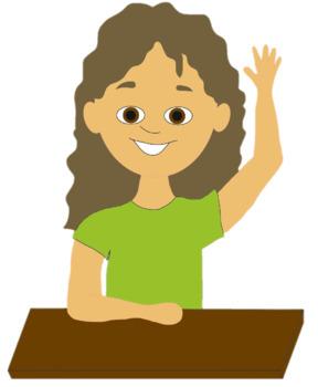 Clip Art student Raising Hand jpg freeuse