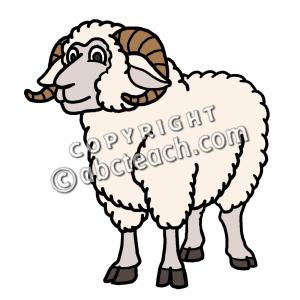 Clip Art: Cartoon Sheep: Ram | Clipart Panda - Free Clipart Images clip transparent library
