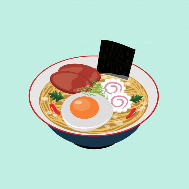 Clipart ramen vector freeuse Japanese food ramen noodles illustration vector clipart Vector ... vector freeuse