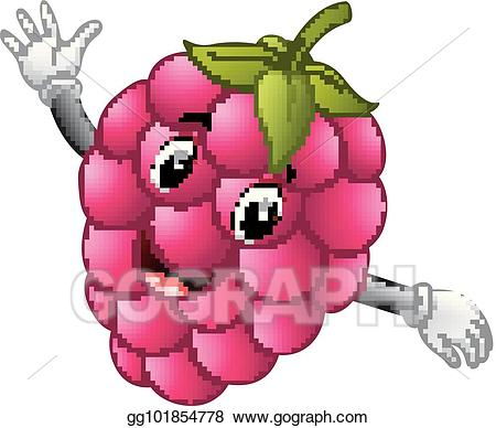 Clipart raspberry face jpg Vector Art - Raspberry with face. Clipart Drawing gg101854778 - GoGraph jpg