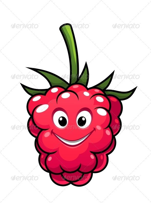 Clipart raspberry face png free Happy Cartoon Raspberry | Fonts-logos-icons | Happy cartoon ... png free