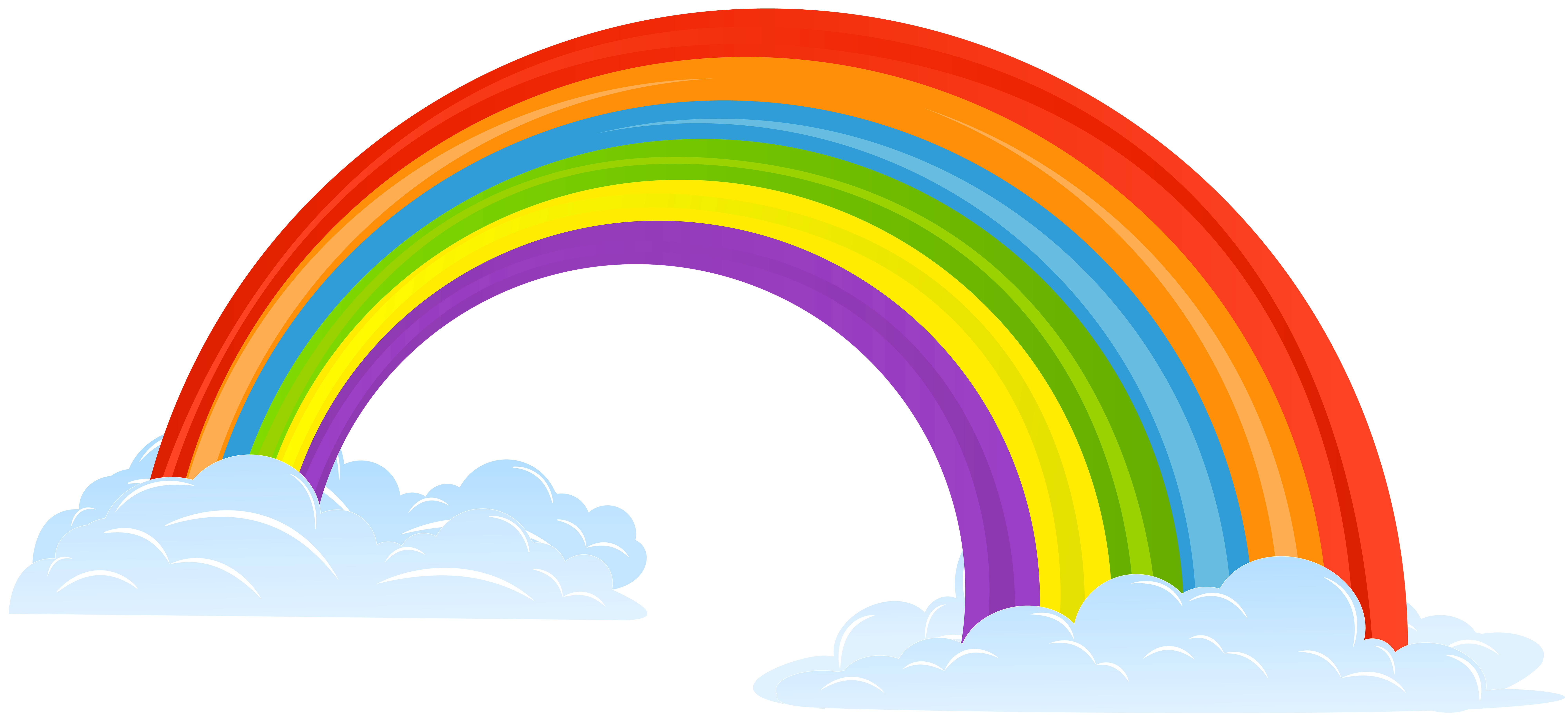 Clipart ratnbow graphic royalty free stock Rainbow with Clouds Clip Art Image | Gallery Yopriceville - High ... graphic royalty free stock