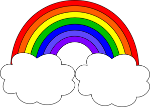 Clipart ratnbow image transparent download Rainbow With Clouds clip art | Clipart Panda - Free Clipart Images image transparent download