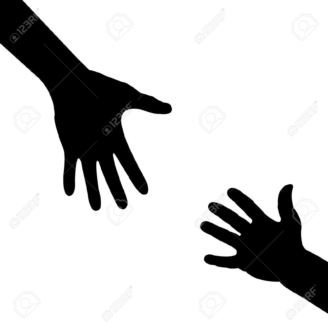 Clipart reaching hands clipart black and white Reaching hands clipart » Clipart Portal clipart black and white