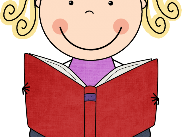 Child Reading A Book Clipart 7 - 1300 X 1300 | carwad.net clip royalty free library