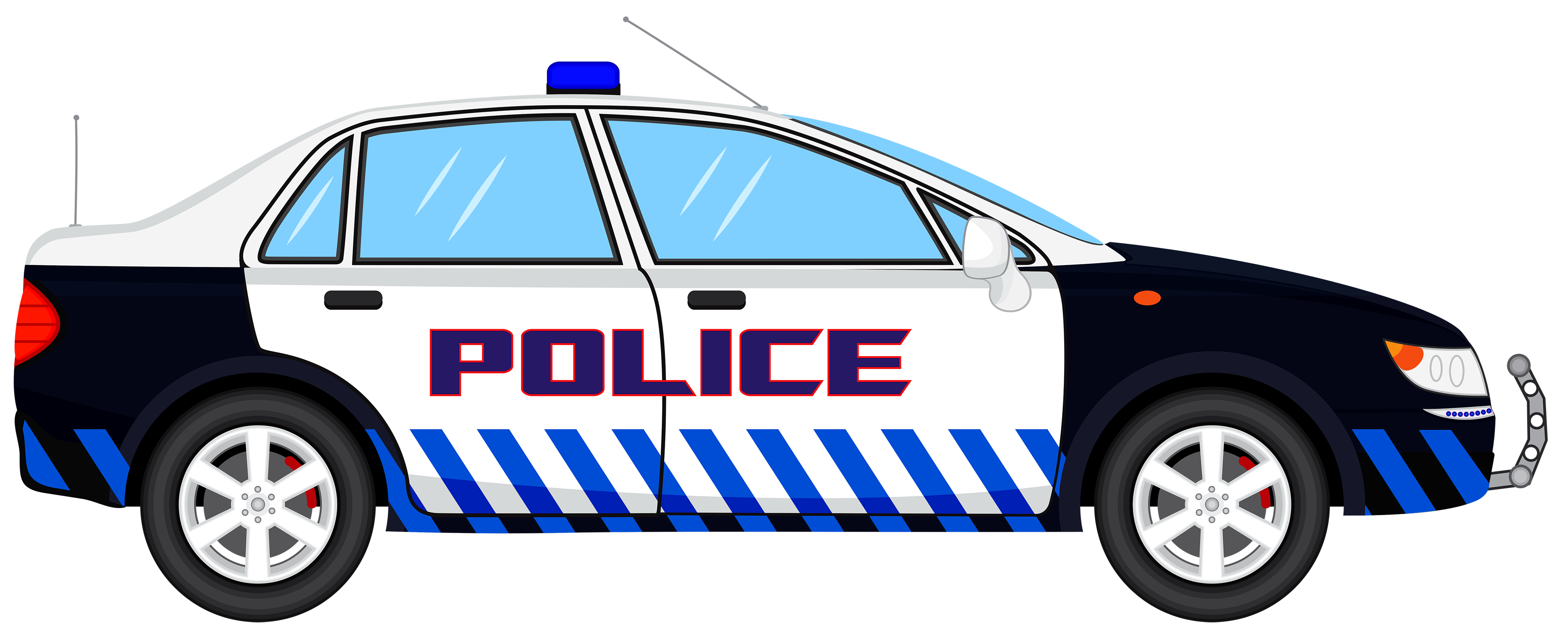 Police Car Outline | Free download best Police Car Outline on ... png black and white