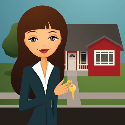 Clipart real estate agent. Clip art vector images