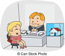 Clipart real estate agent. Illustrations and stock art