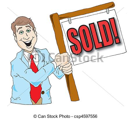 Vector graphics image of. Clipart real estate agent