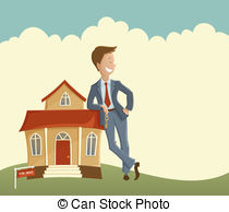 Clipart real estate agent. Stock illustrations clip art