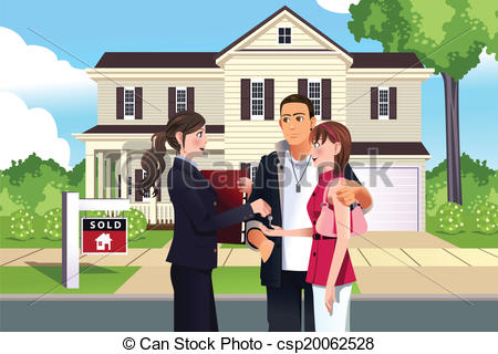 Stock illustrations clip art. Clipart real estate agent