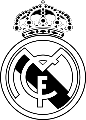 Clipart real madrid clipart black and white Real Madrid Barcelona 2 Clip Art - Cliparts Zone clipart black and white