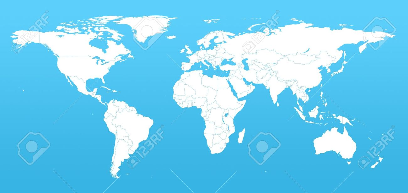 Clipart real world map graphic freeuse library Clipart real world map - ClipartFest graphic freeuse library
