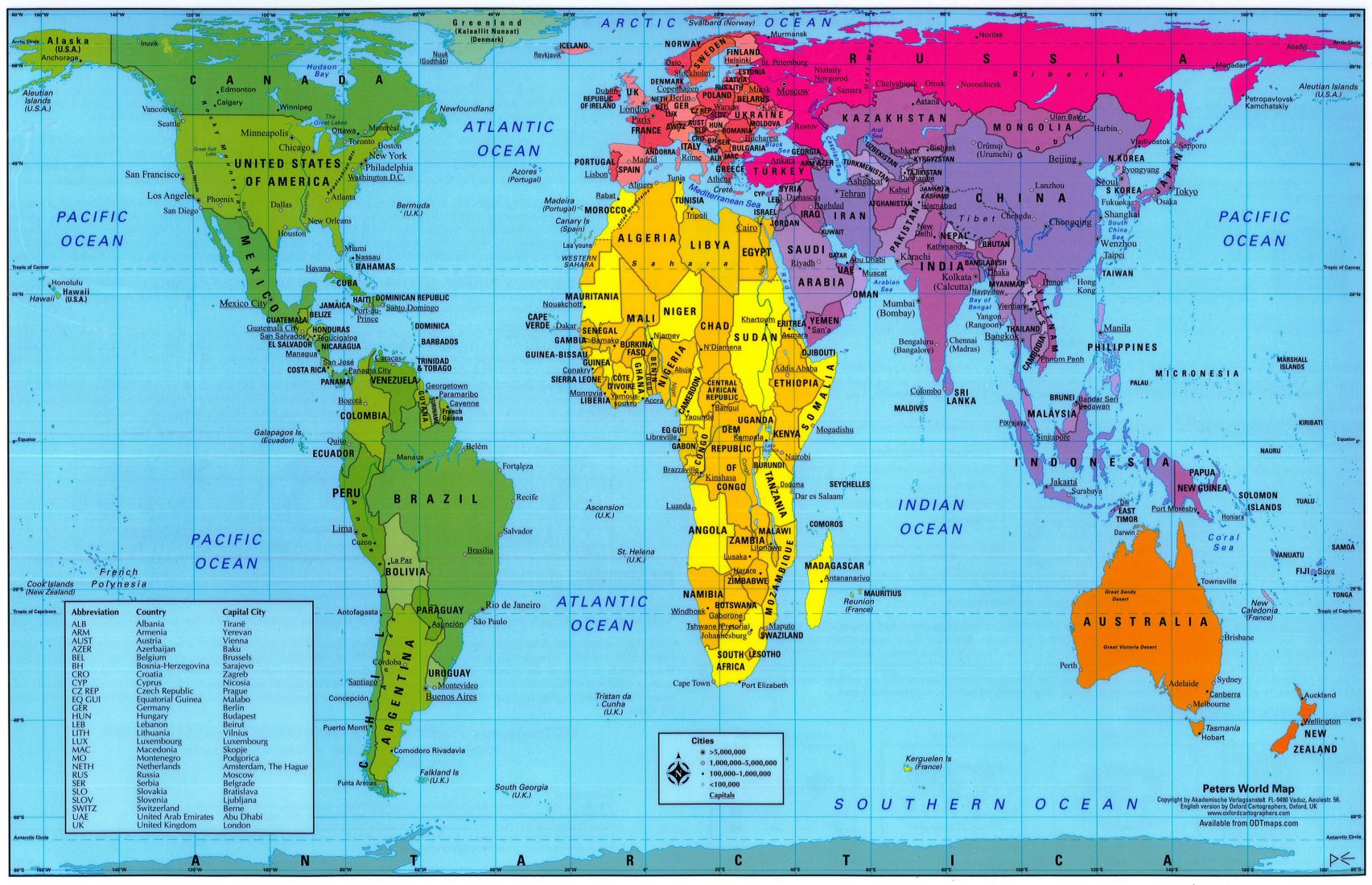 Clipart real world map clipart stock Real World Map | taos.digimerge.net clipart stock