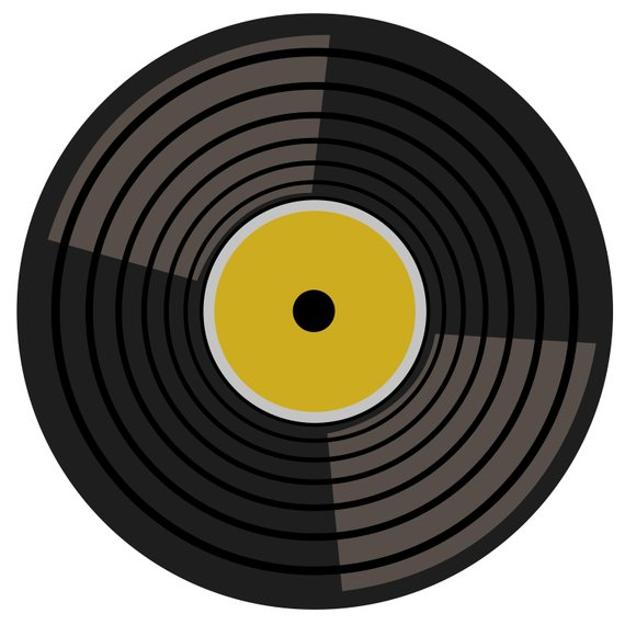Shot record clipart graphic library library RECORD CLIPART - retro music turntable records icons | Products in ... graphic library library