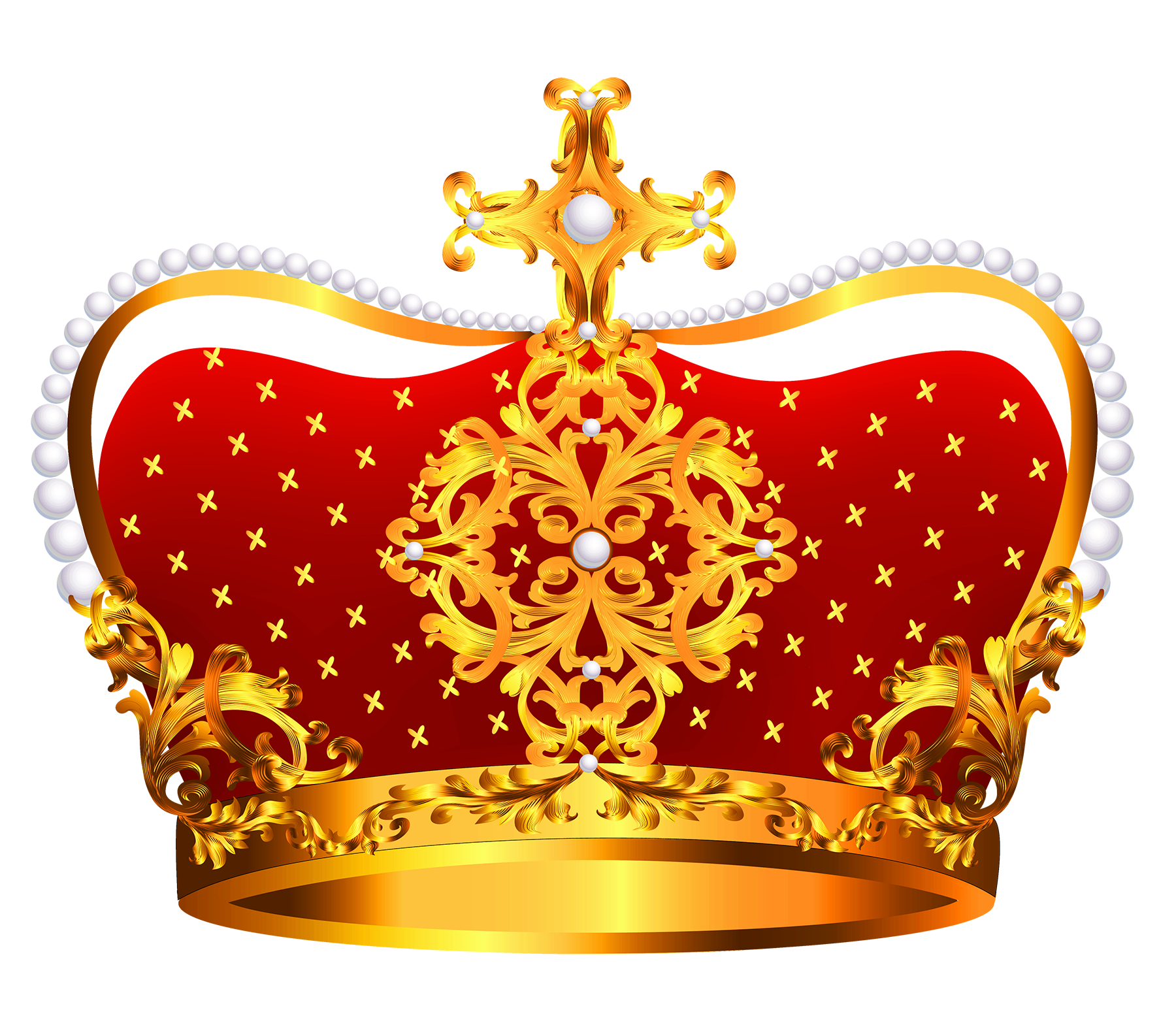 Crown with red jewels clipart vector royalty free Coroa-Dourada-09.png (1800×1575) | корона | Pinterest | Corona, Clip ... vector royalty free