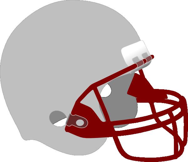 Clipart red football helmet vector transparent stock Gray And Red Helmet Clip Art at Clker.com - vector clip art online ... vector transparent stock