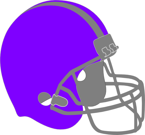 Football helmet and ball clipart. Purple clip art at