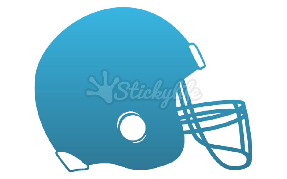 Decals custom shaped window. Football helmet clipart front