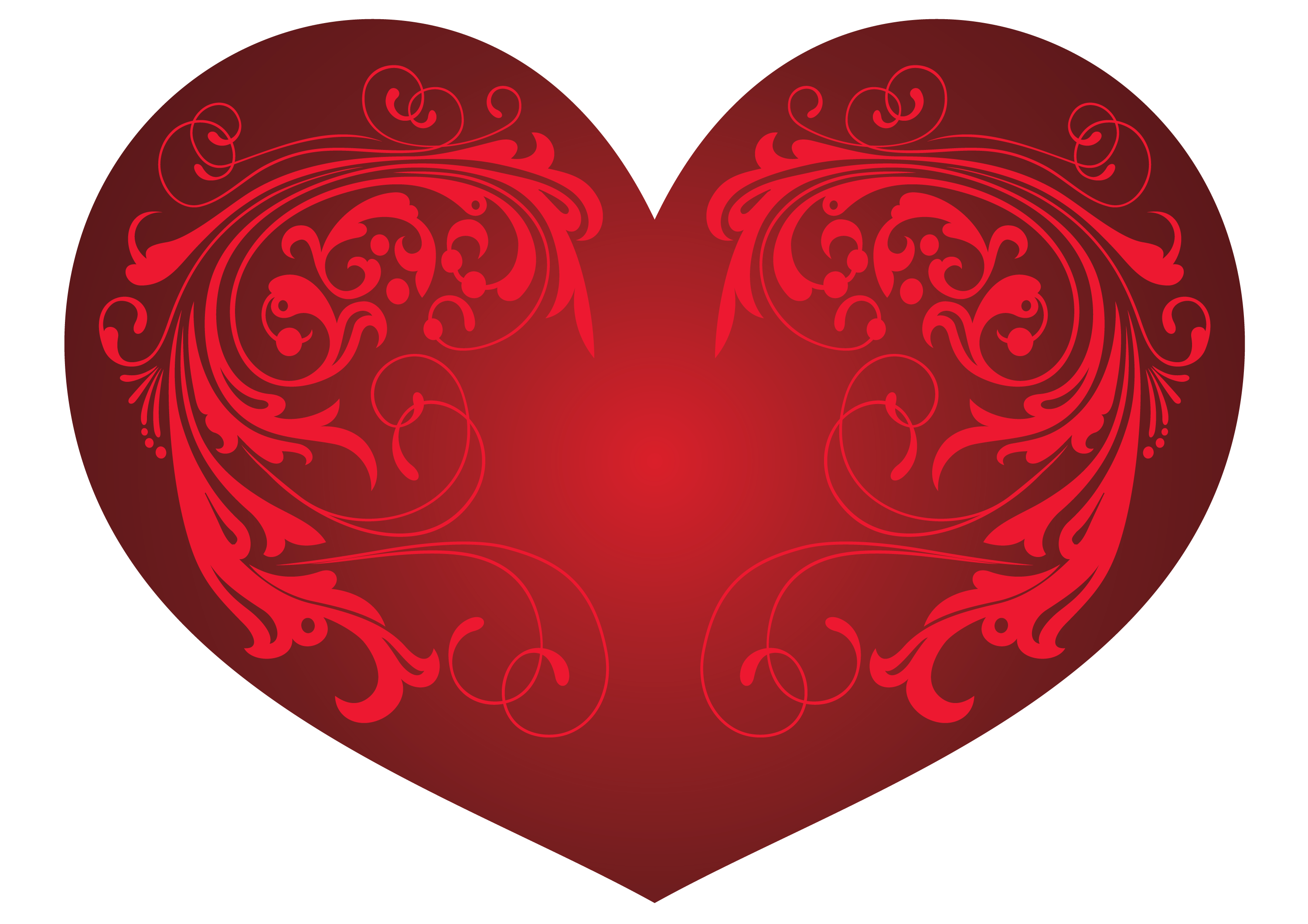 Red Heart and Ornaments PNG Clipart Picture | Gallery Yopriceville ... banner free download