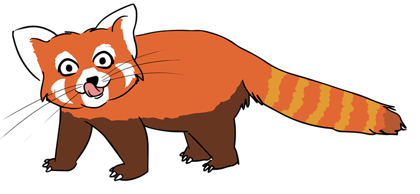 Clipart red panda vector free library Red Panda Clip Art | Clipart Panda - Free Clipart Images vector free library