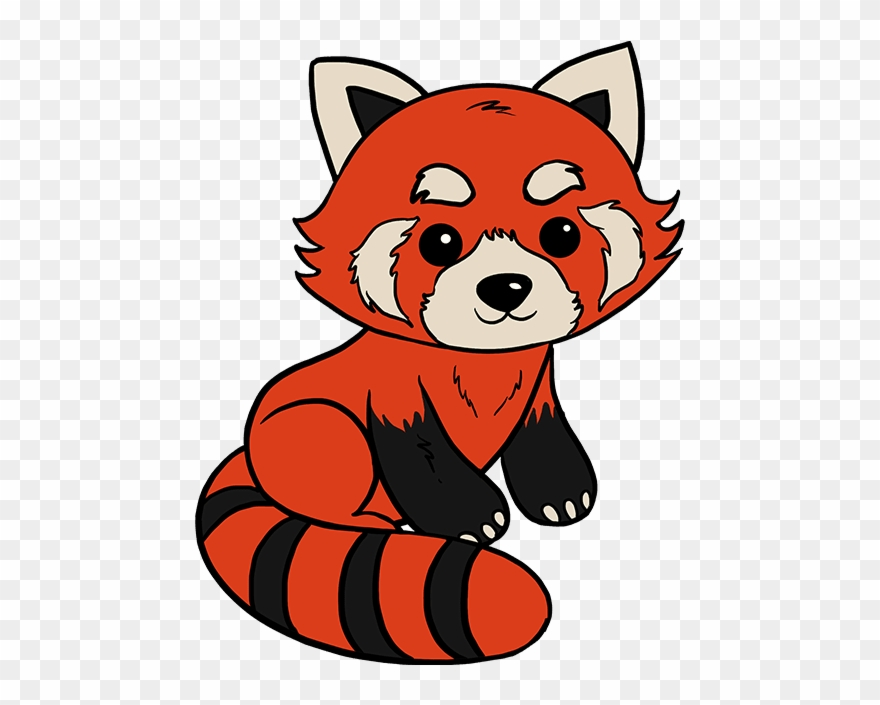 Red panda clipart clip black and white Red Panda Drawing - Easy Red Panda Drawing Clipart (#241180 ... clip black and white