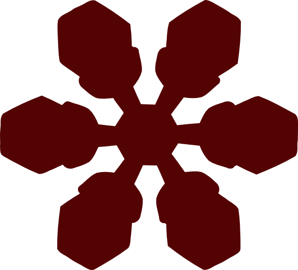 Red snowflake clipart svg stock Snowflake Clip Art at Clker.com - vector clip art online, royalty ... svg stock
