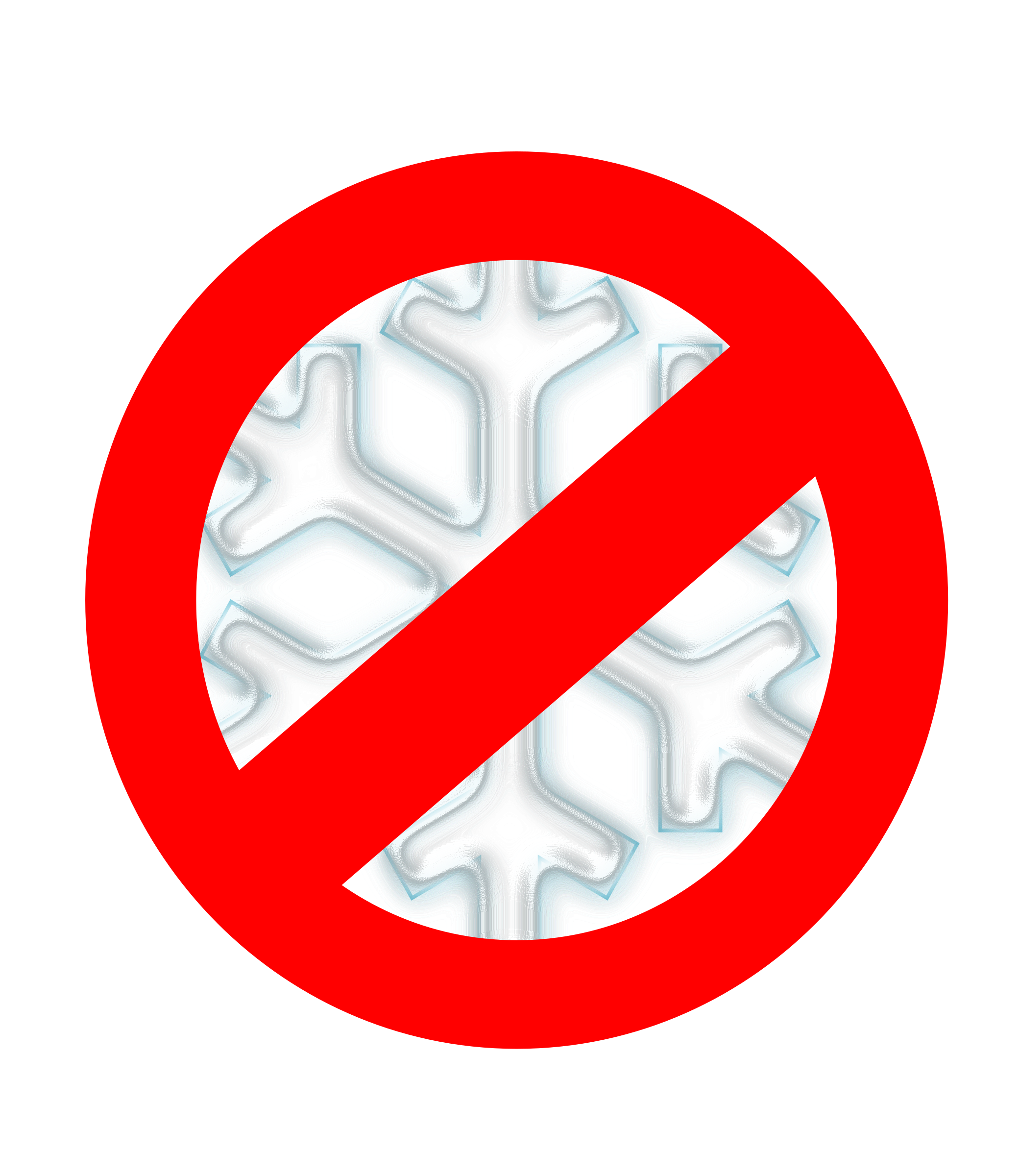 Clipart red snowflake jpg library Clipart - No to snow! jpg library