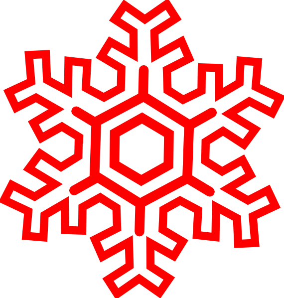 Red snowflake clipart graphic royalty free download Red Snowflake Clip Art at Clker.com - vector clip art online ... graphic royalty free download