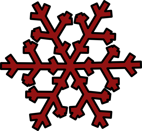 Snowflake clipart with face clip art royalty free download Dark Red Snowflake Clip Art at Clker.com - vector clip art online ... clip art royalty free download