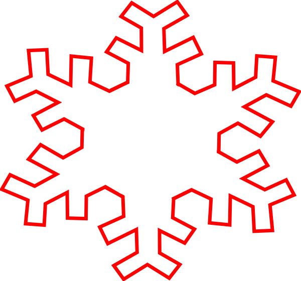 Snowflake clipart sketch transparent library Red Snowflake Outline Clip Art at Clker.com - vector clip art online ... transparent library