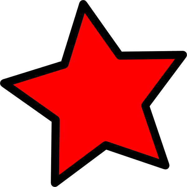 Clipart red star png transparent library 28+ Collection of Red Star Clipart | High quality, free cliparts ... png transparent library