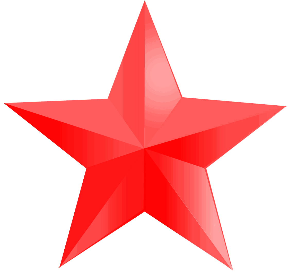 Clipart red star clip black and white download Red star PNG images free download clip black and white download