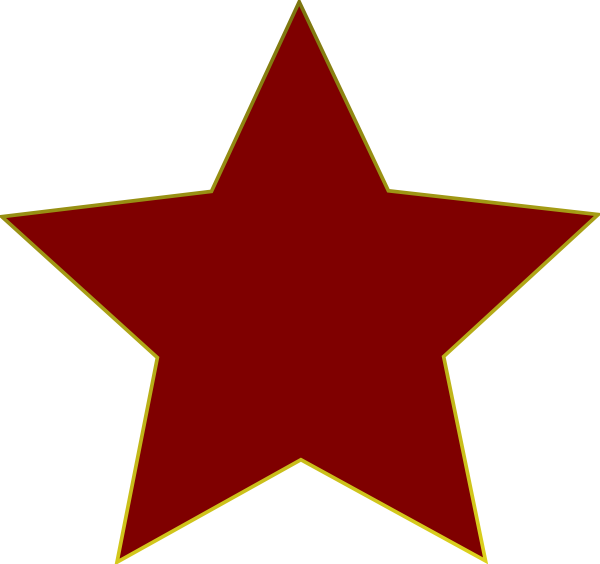 Clipart red star jpg black and white Red Star Clip Art at Clker.com - vector clip art online, royalty ... jpg black and white