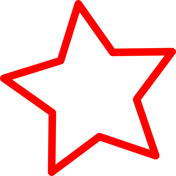 Clipart red star clipart free stock Star Clip Art at Clker.com - vector clip art online, royalty free ... clipart free stock