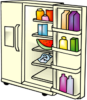 Refrigerator clipart image black and white stock Free Refrigerators Cliparts, Download Free Clip Art, Free Clip Art ... image black and white stock