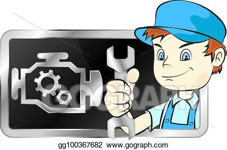 Clipart repair graphic freeuse download Vector Clipart - Repair of car engines. Vector Illustration ... graphic freeuse download