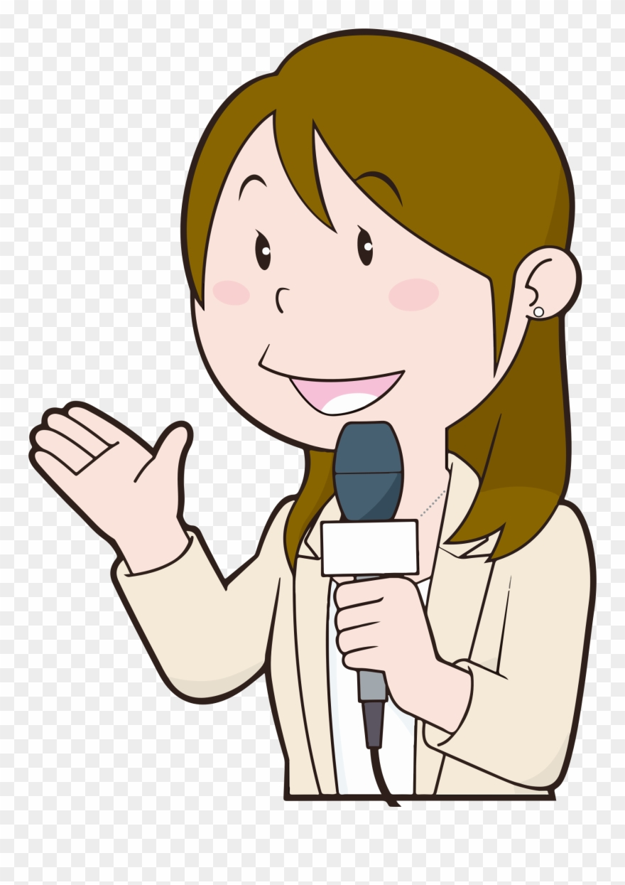 Clipart reporter svg royalty free Big Image - Female News Reporter Clipart Png Transparent Png ... svg royalty free