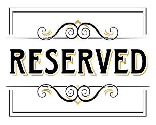 Clipart reserved sign clip transparent library Gold Reserved Sign Wedding Wedding Signs   Zazzle.co.nz clip transparent library