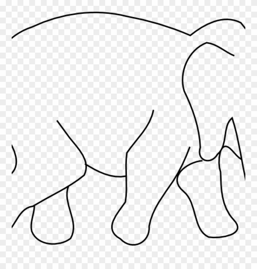 Clipart resolution 900 736 drawings clipart drawing png royalty free library Elephant Outline Drawing Animal Drawings Clip Art Music - Black And ... png royalty free library