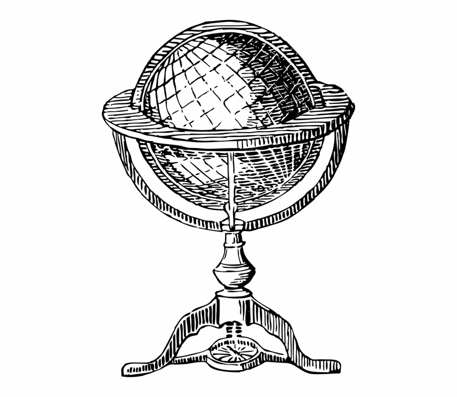 Clipart resolution 900 736 drawings clipart drawing freeuse library Globe Asset - Old Globe Drawing {#1793769} - Pngtube freeuse library